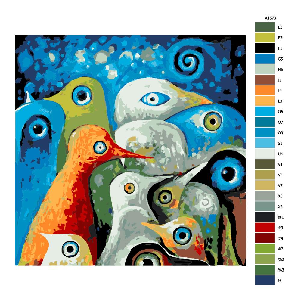 Návod pro malování podle čísel Okatí