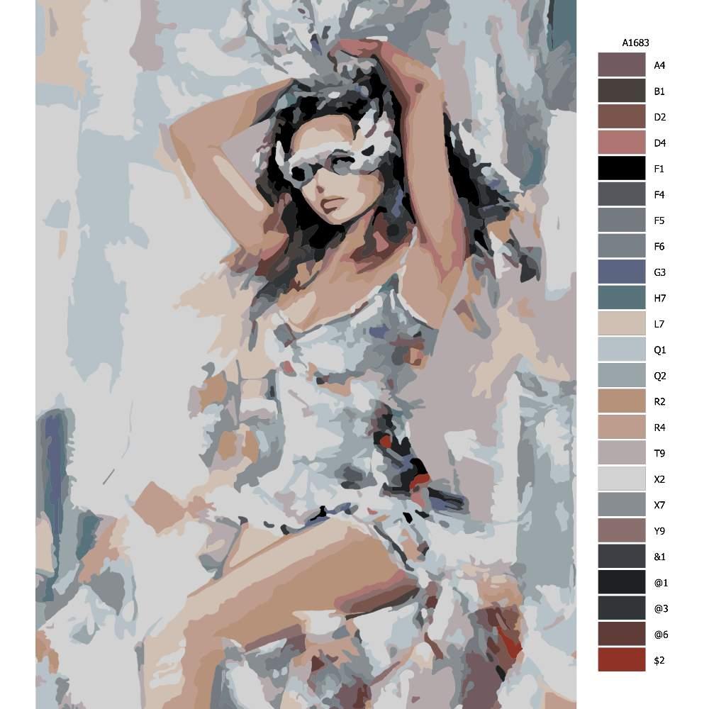 Malování podle čísel Dívka v masce