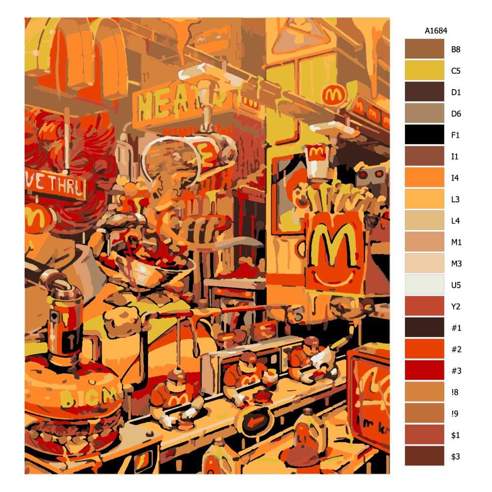 Návod pro malování podle čísel U Mekáče