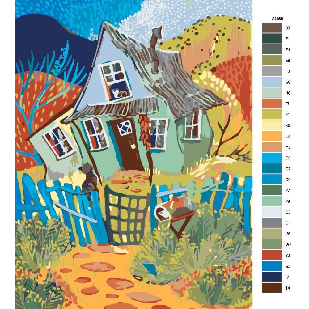 Malování podle čísel Cestička domů
