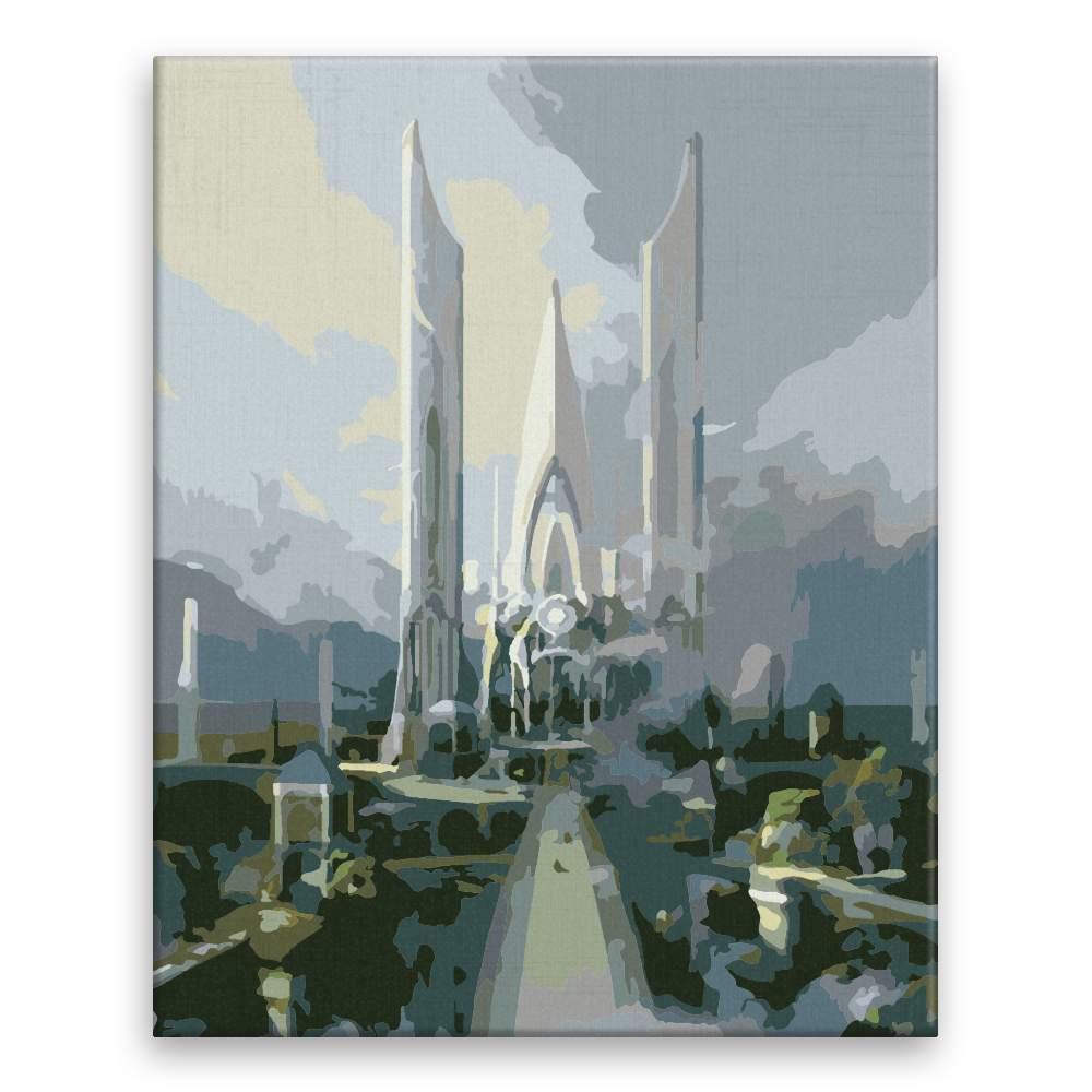 Malování podle čísel Město panovníka