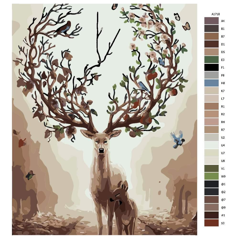 Malování podle čísel Matka příroda