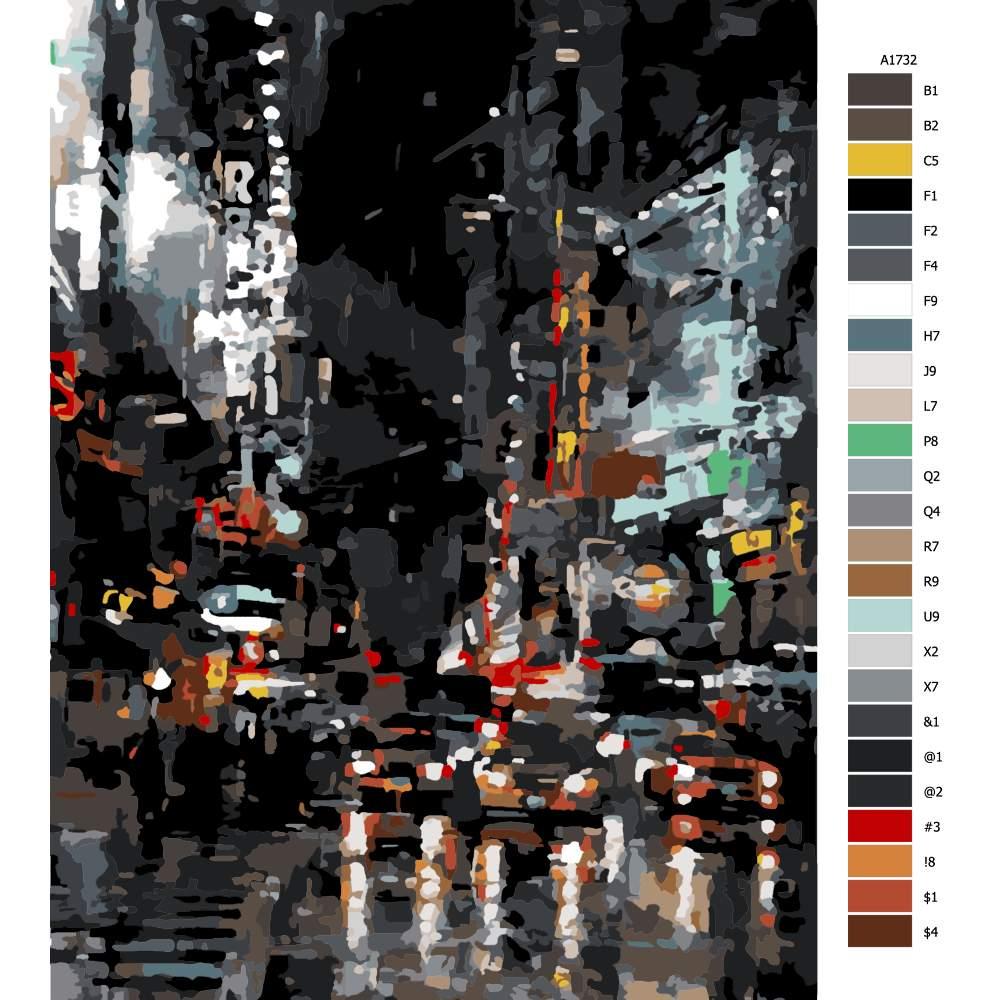 Návod pro malování podle čísel New York City