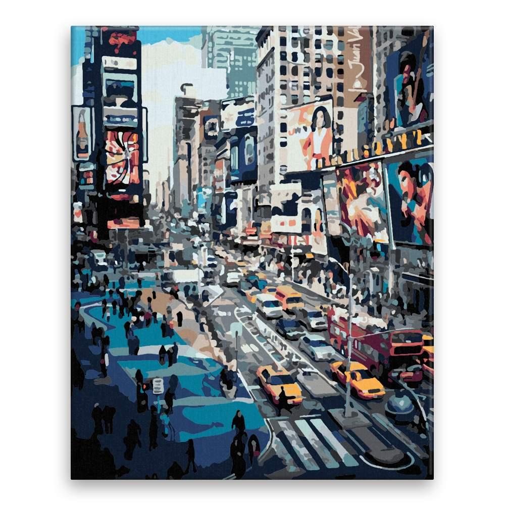 Malování podle čísel V New Yorku ve špičce