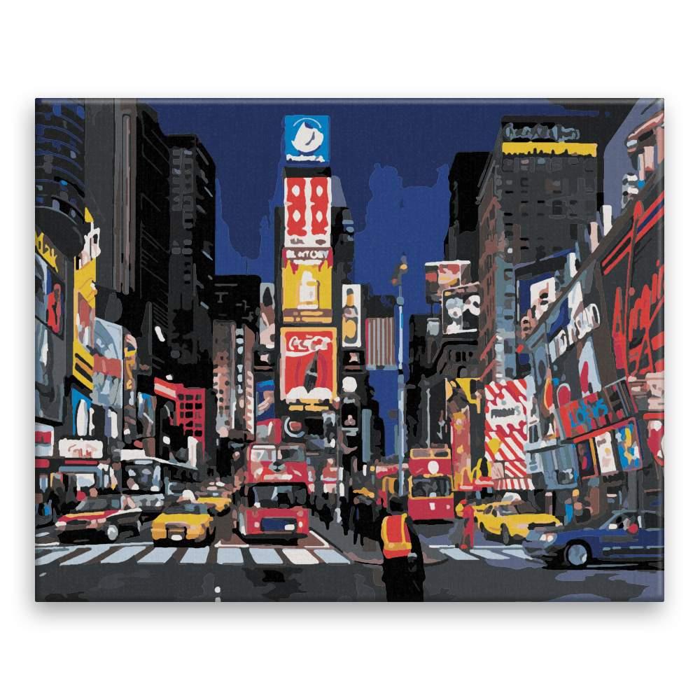 Malování podle čísel Time Square New York
