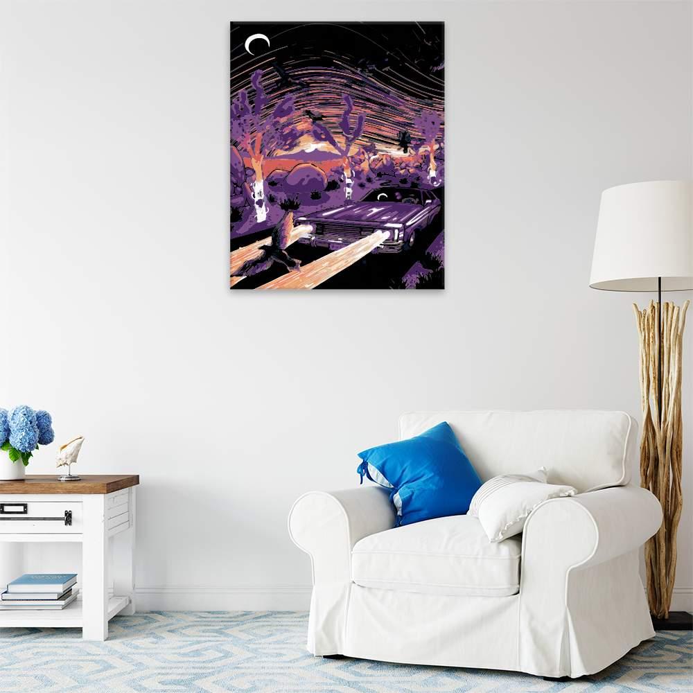 Malování podle čísel Noční jízda