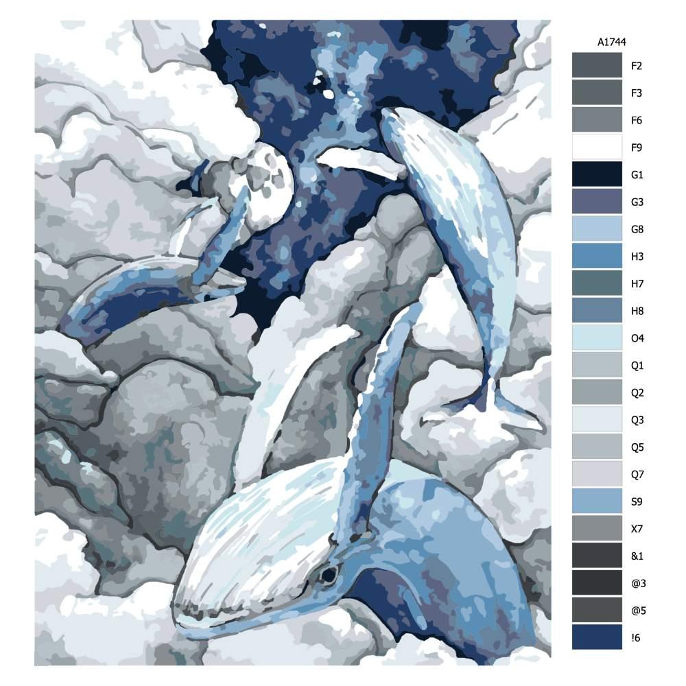 Návod pro malování podle čísel Velké snění