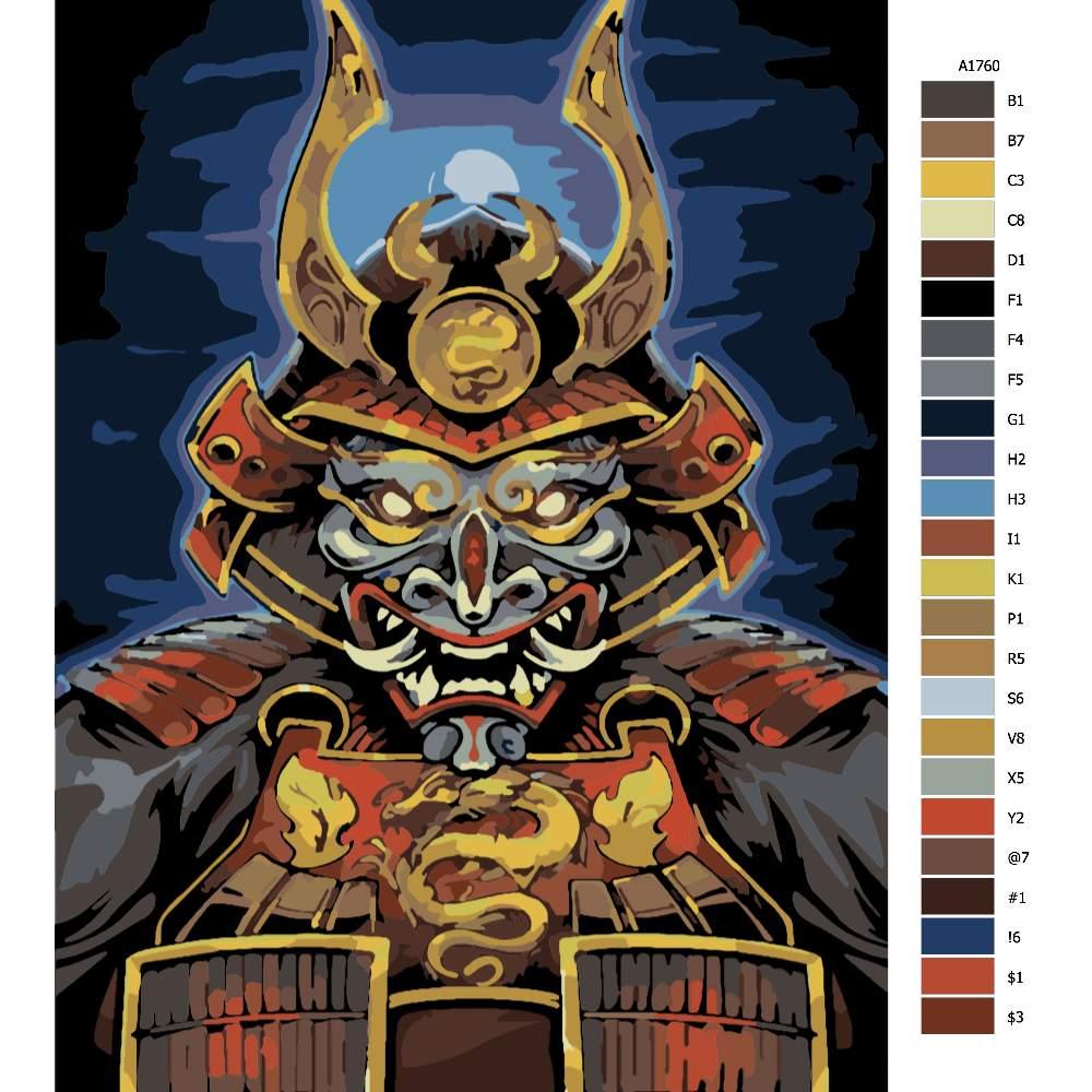 Malování podle čísel Dračí Samurai