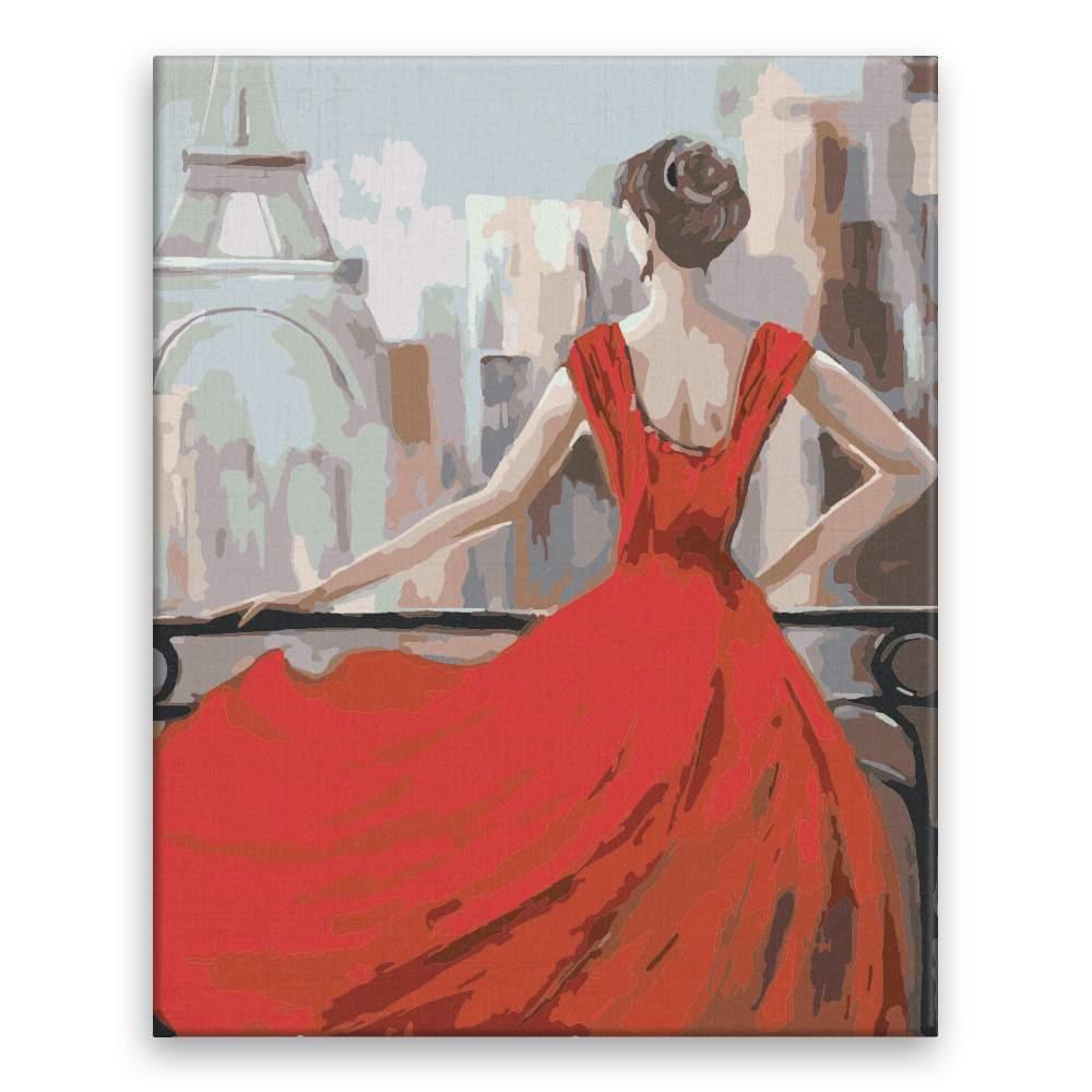 Malování podle čísel V Paříži v červených