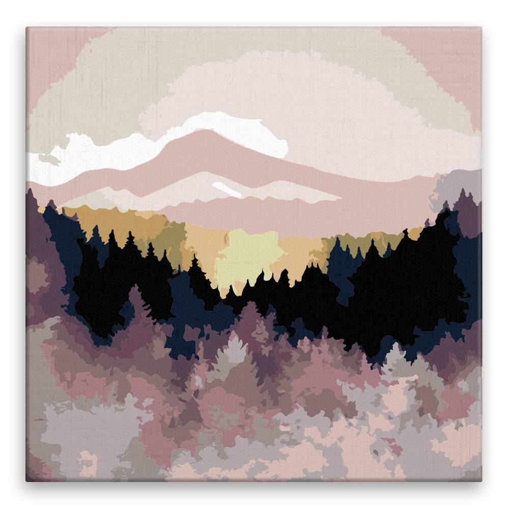 Malování podle čísel Barevně splývající příroda