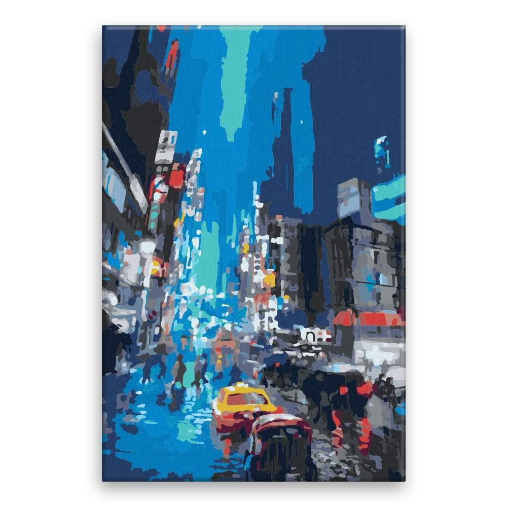 Malování podle čísel Večerní deštivé město