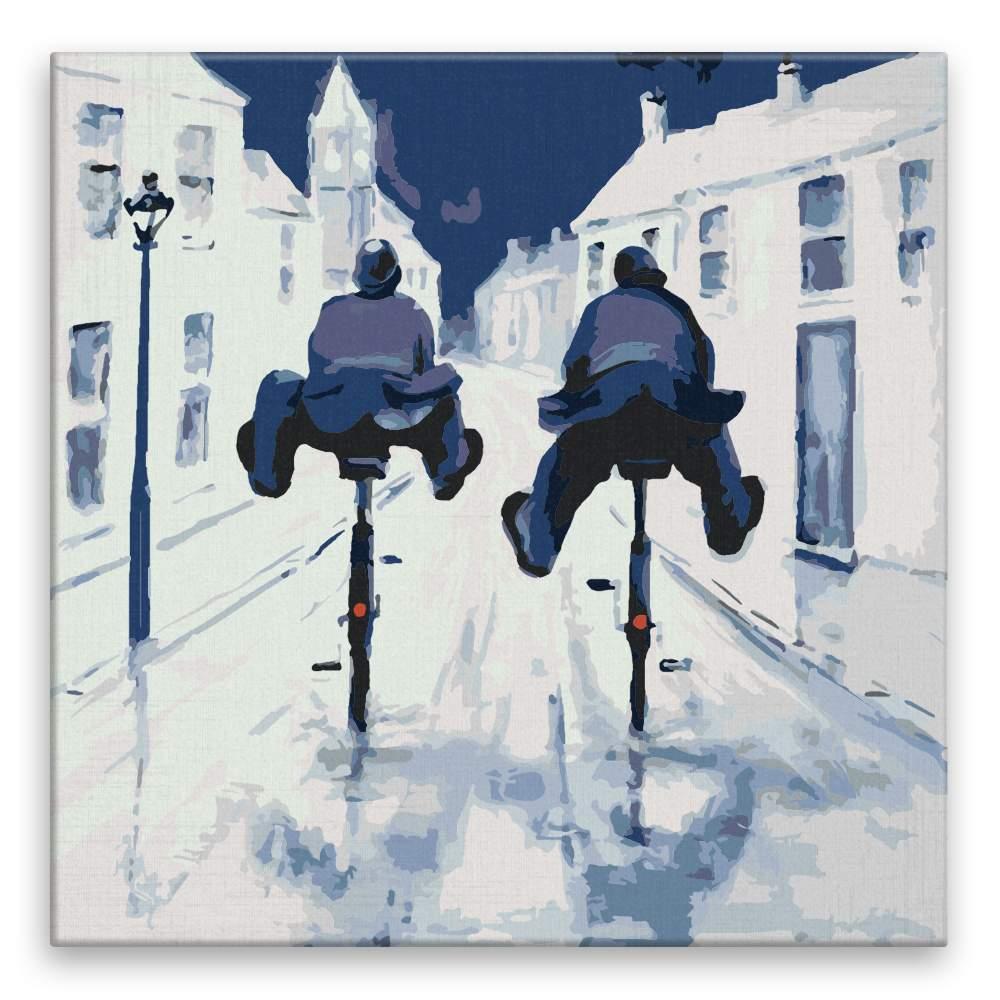 Malování podle čísel Komisaři na kolech