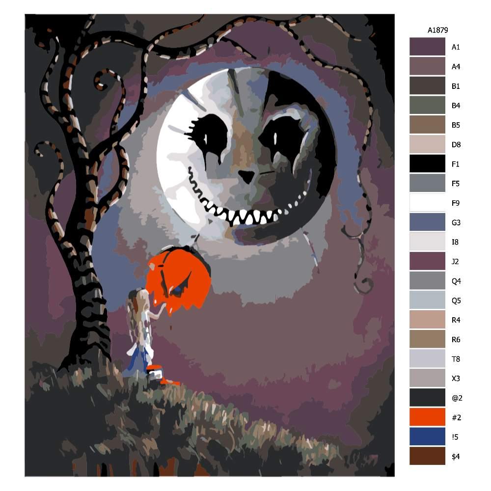 Návod pro malování podle čísel Čarovná noc