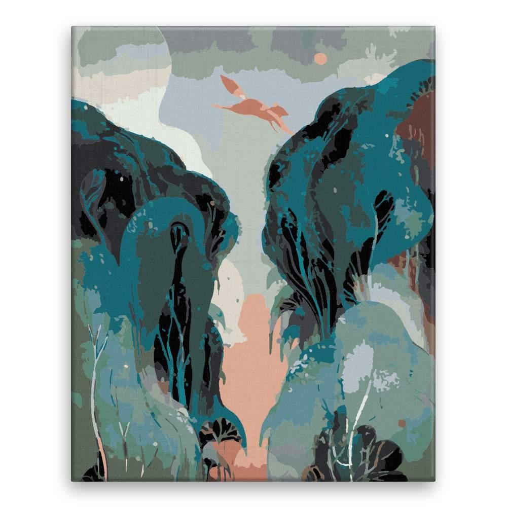 Malování podle čísel Liška v běhu