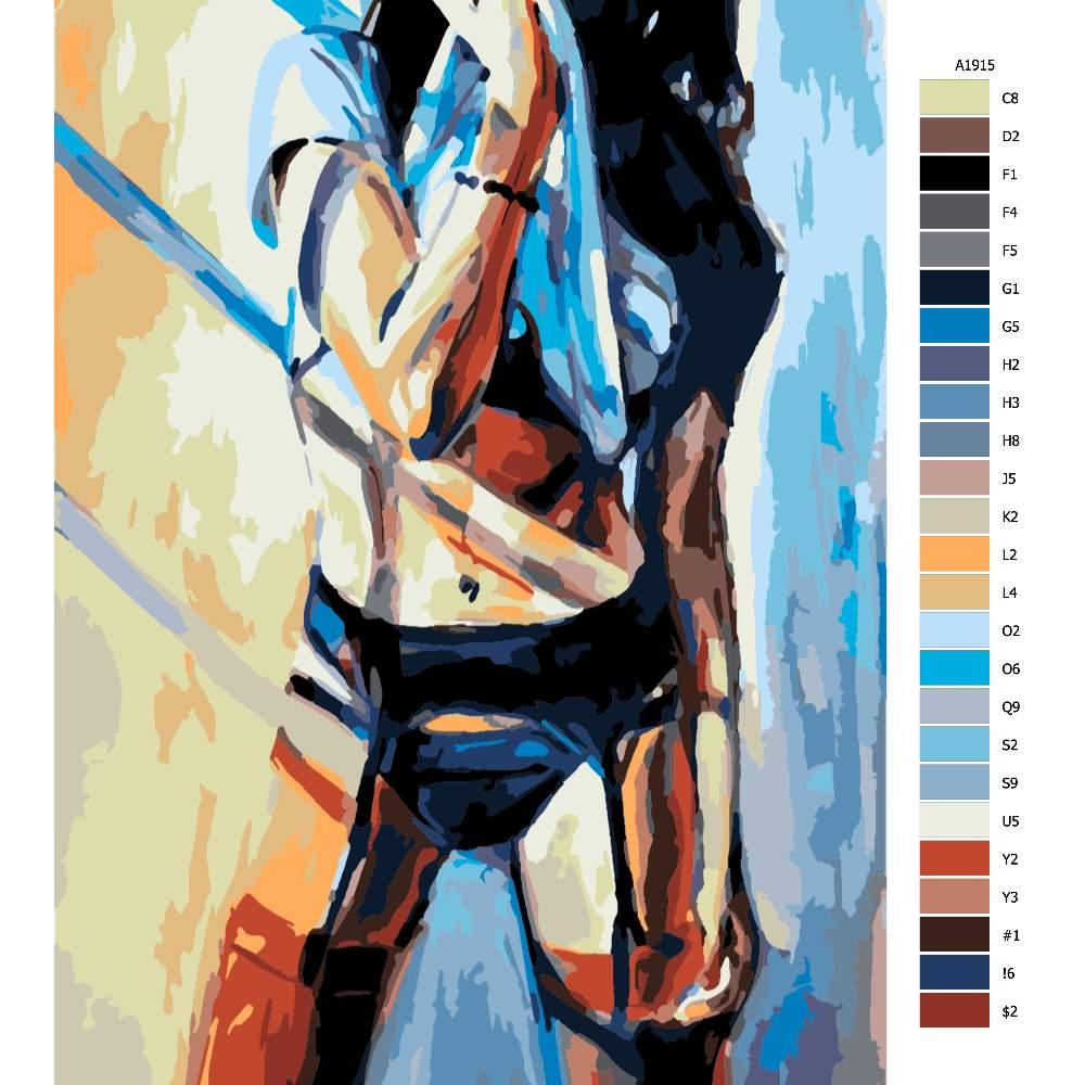 Návod pro malování podle čísel Vyzívavá