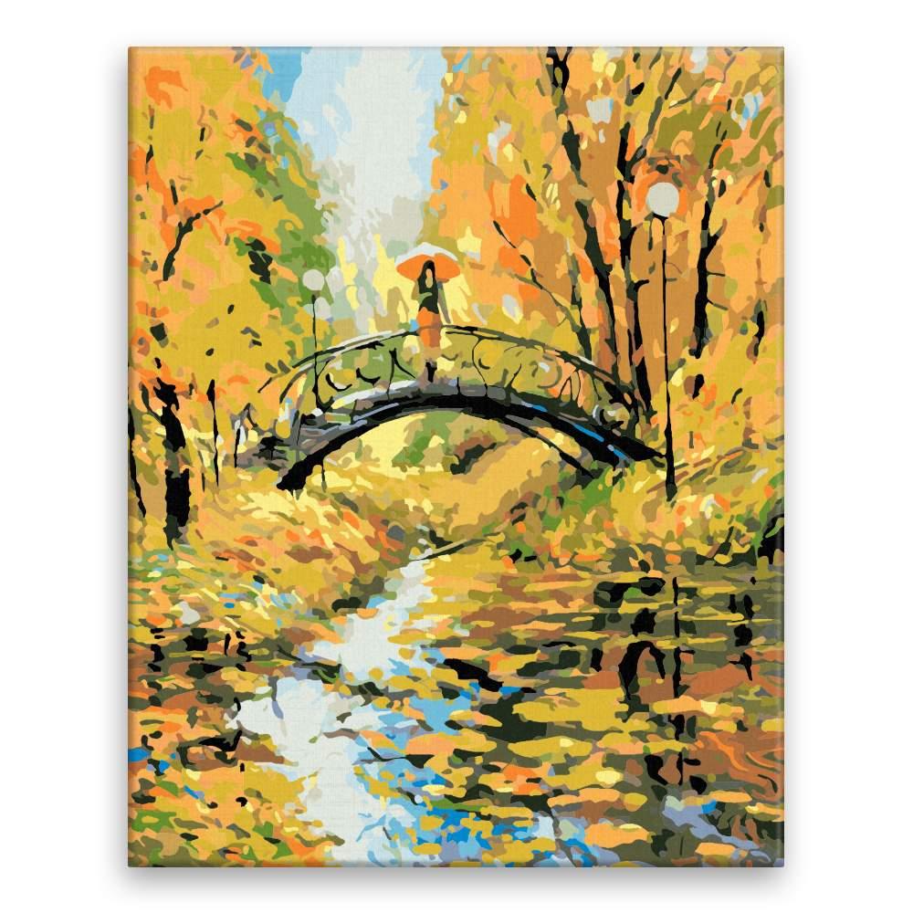 Malování podle čísel Podzimní procházka v parku