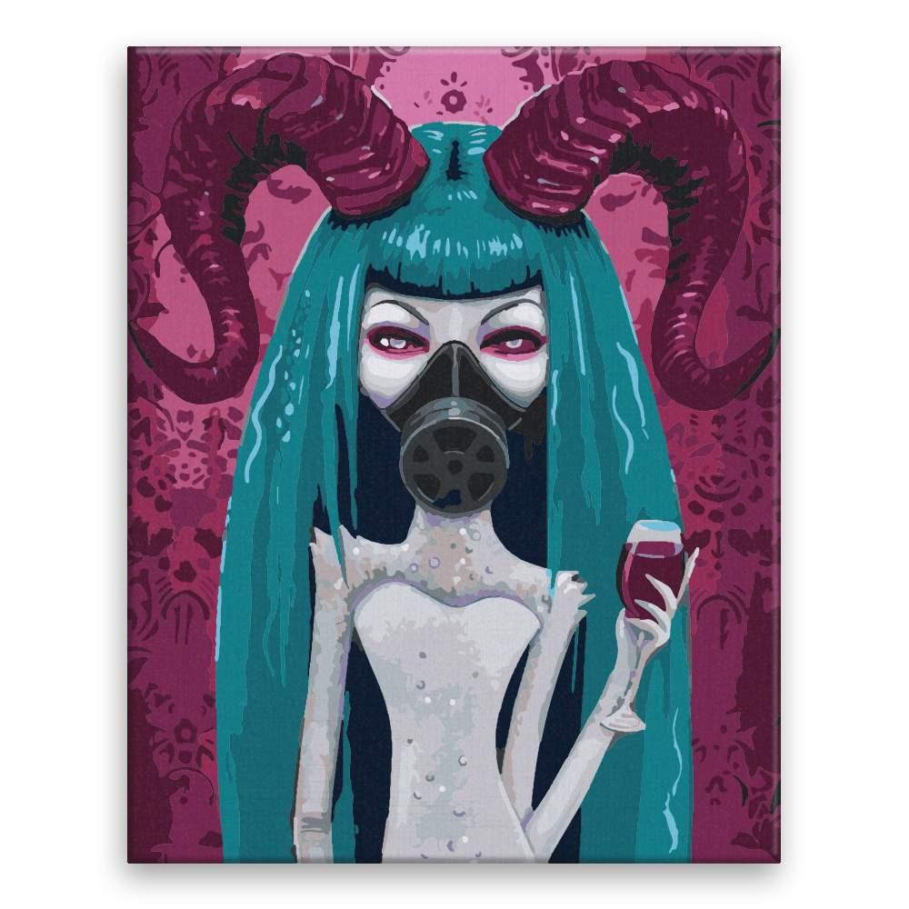 Malování podle čísel Rohatá s maskou