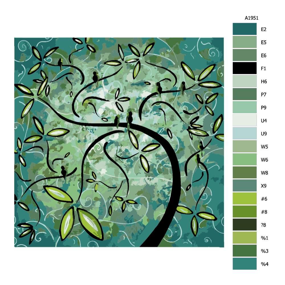 Návod pro malování podle čísel Jarní záře
