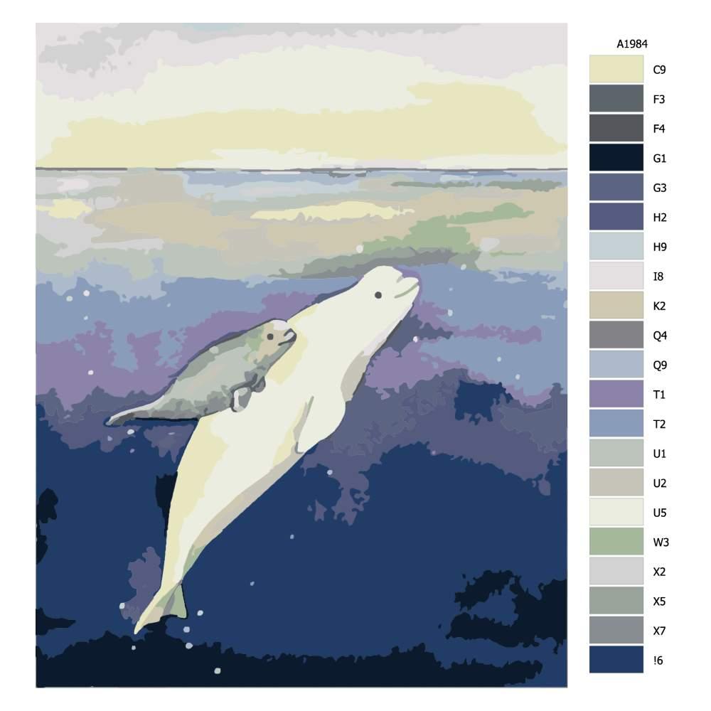 Malování podle čísel Proplouvání k světlu