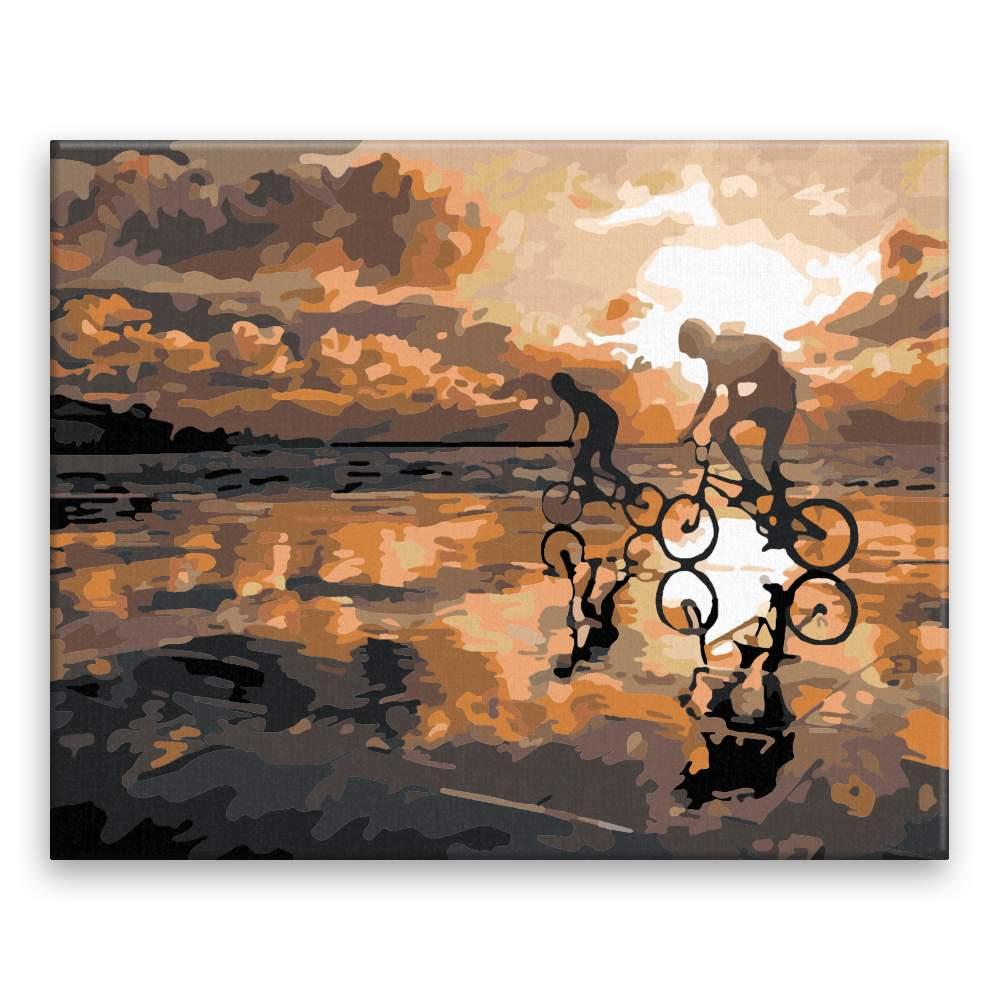 Malování podle čísel Na kolech po pláži