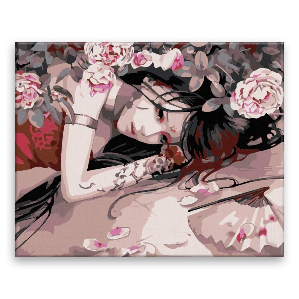 Malování podle čísel Pod trny růží