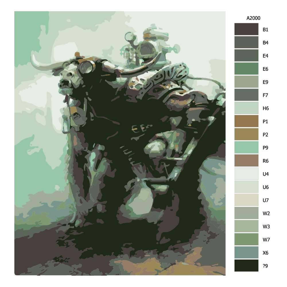 Návod pro malování podle čísel Tauren