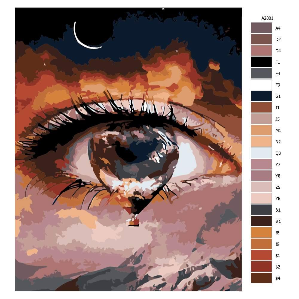 Návod pro malování podle čísel Slza