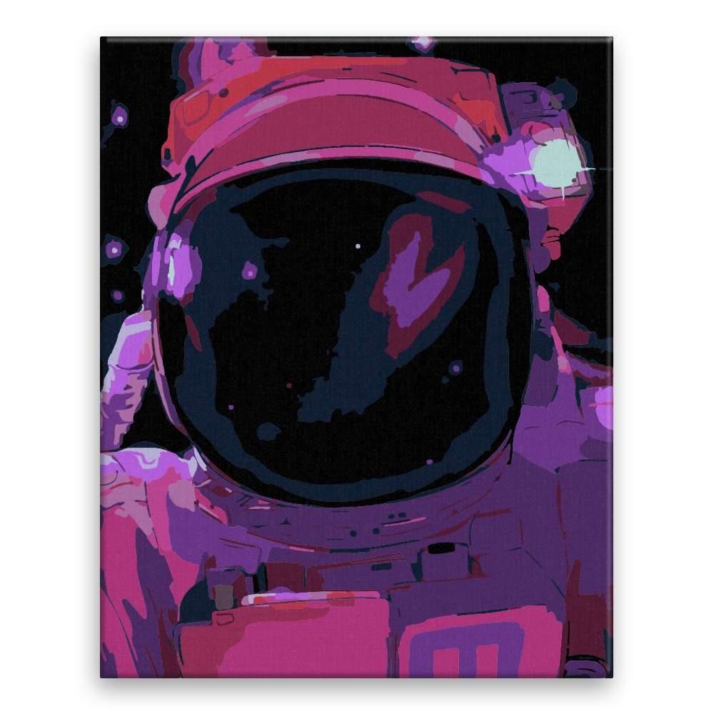 Malování podle čísel Astronout vysílá