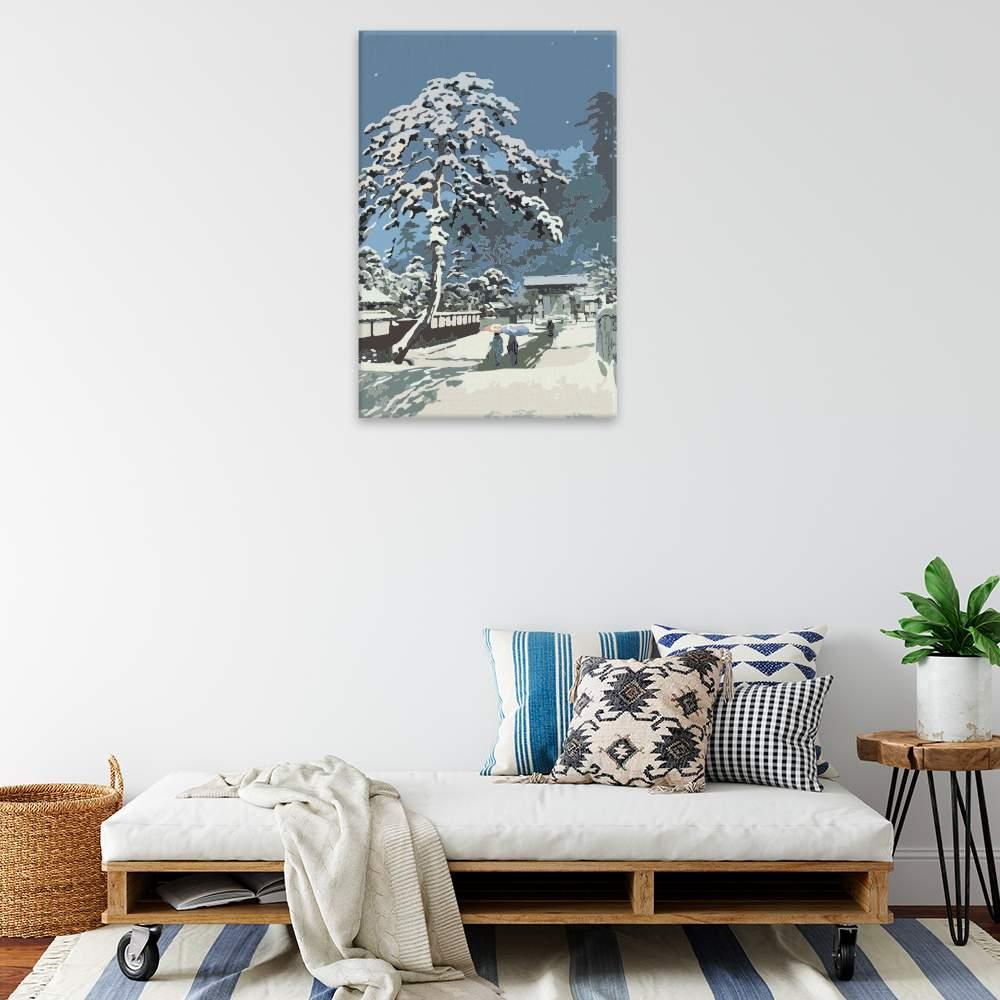 Malování podle čísel Cedr pod sněhem