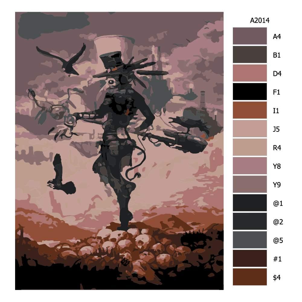 Návod pro malování podle čísel Vraní muž budoucnost