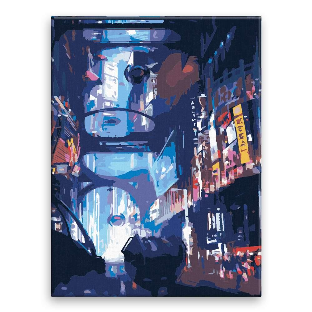 Malování podle čísel Rušná ulice