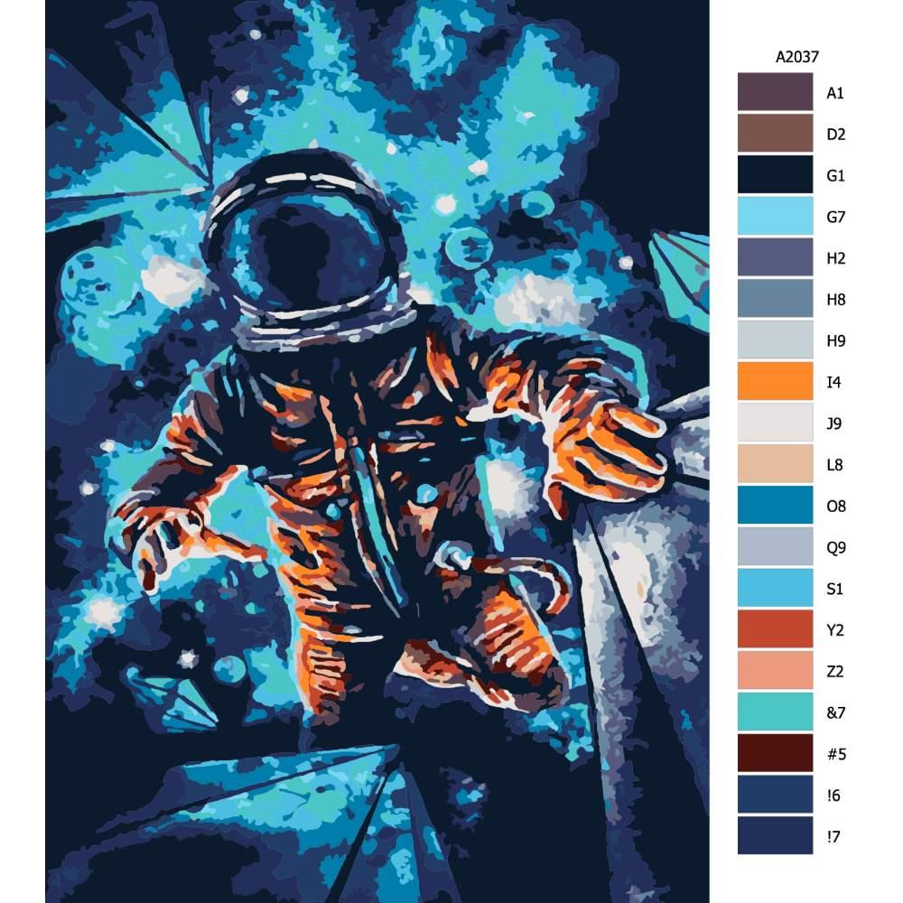 Malování podle čísel Ztracený kosmonout