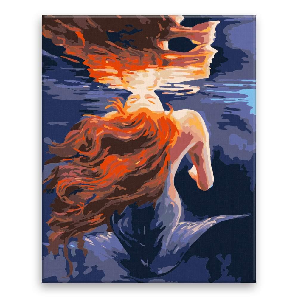 Malování podle čísel Mořská pana v zrcadlení