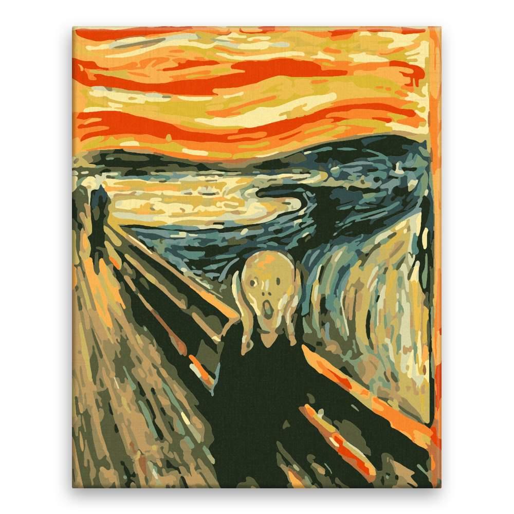 Malování podle čísel Řev Edward Munch