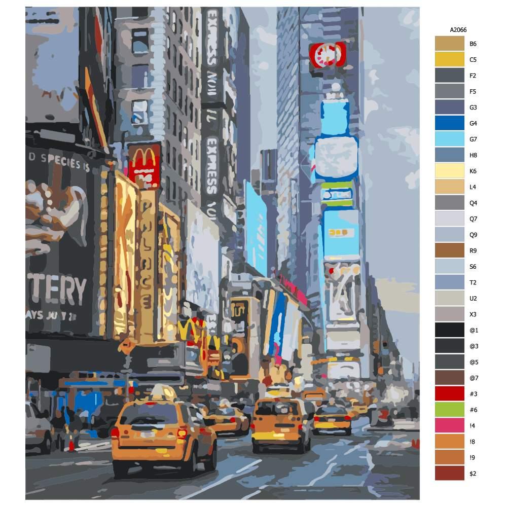 Návod pro malování podle čísel Time Square II