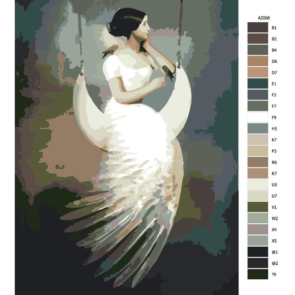 Návod pro malování podle čísel Na měsíc a zpět