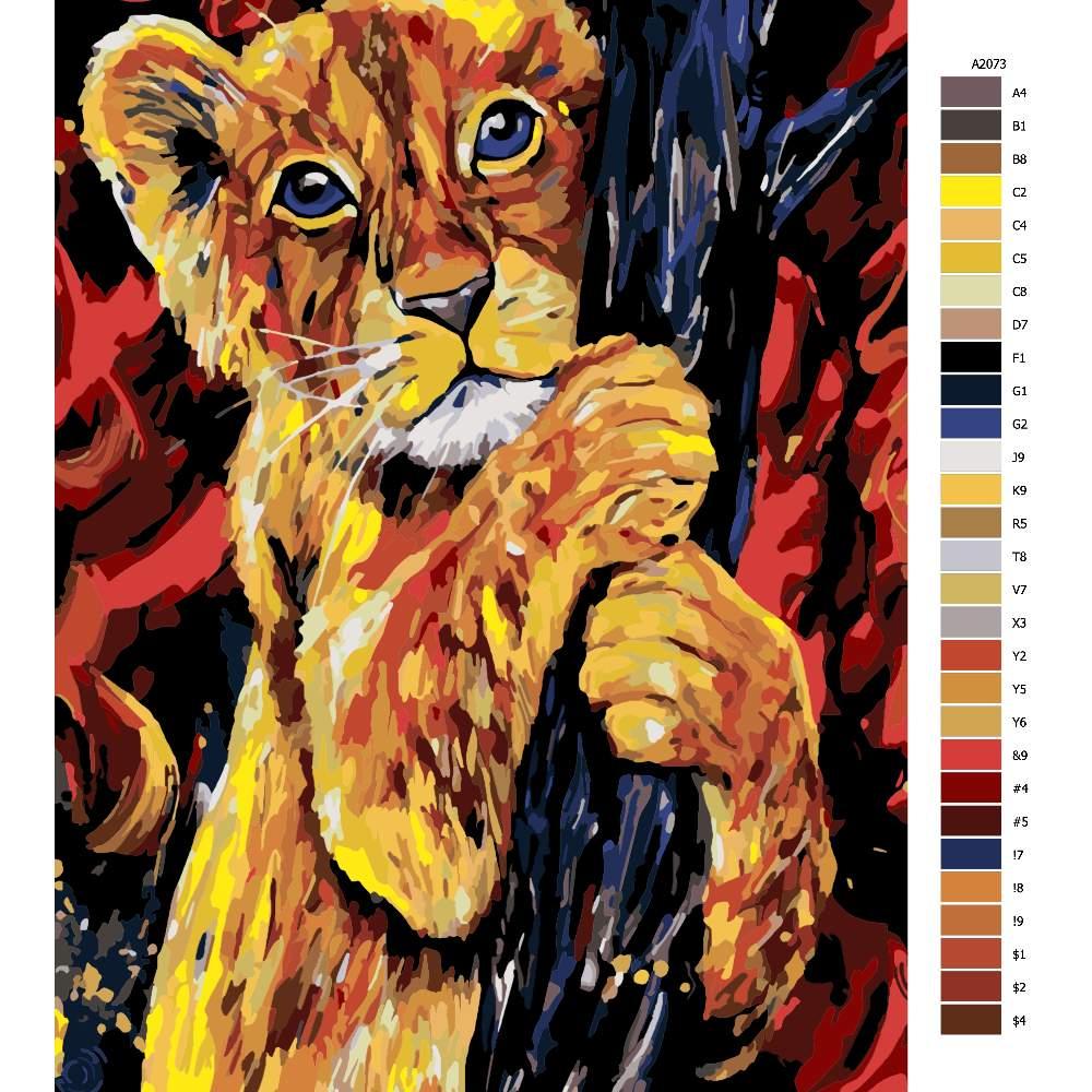 Malování podle čísel Lví mládě