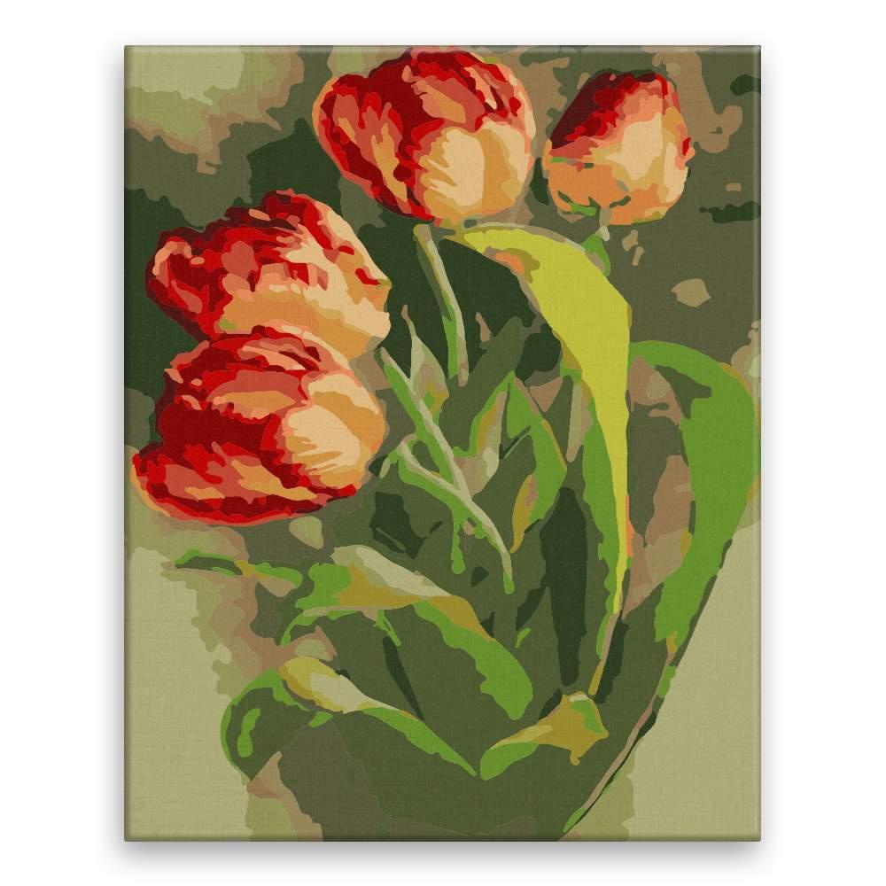 Malování podle čísel Tulipány II