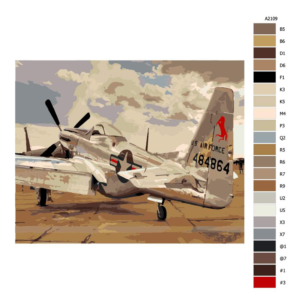Návod pro malování podle čísel Historické letadlo