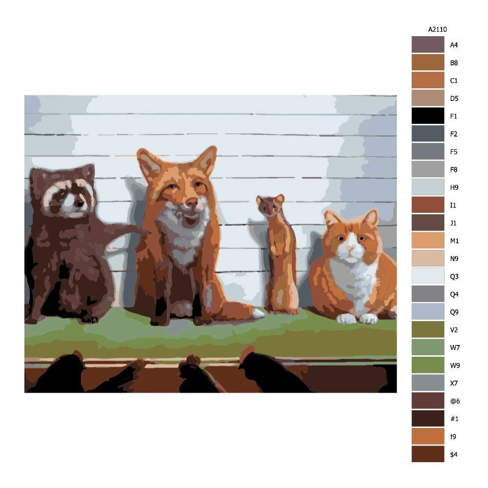 Návod pro malování podle čísel Obvyklí podezřelí