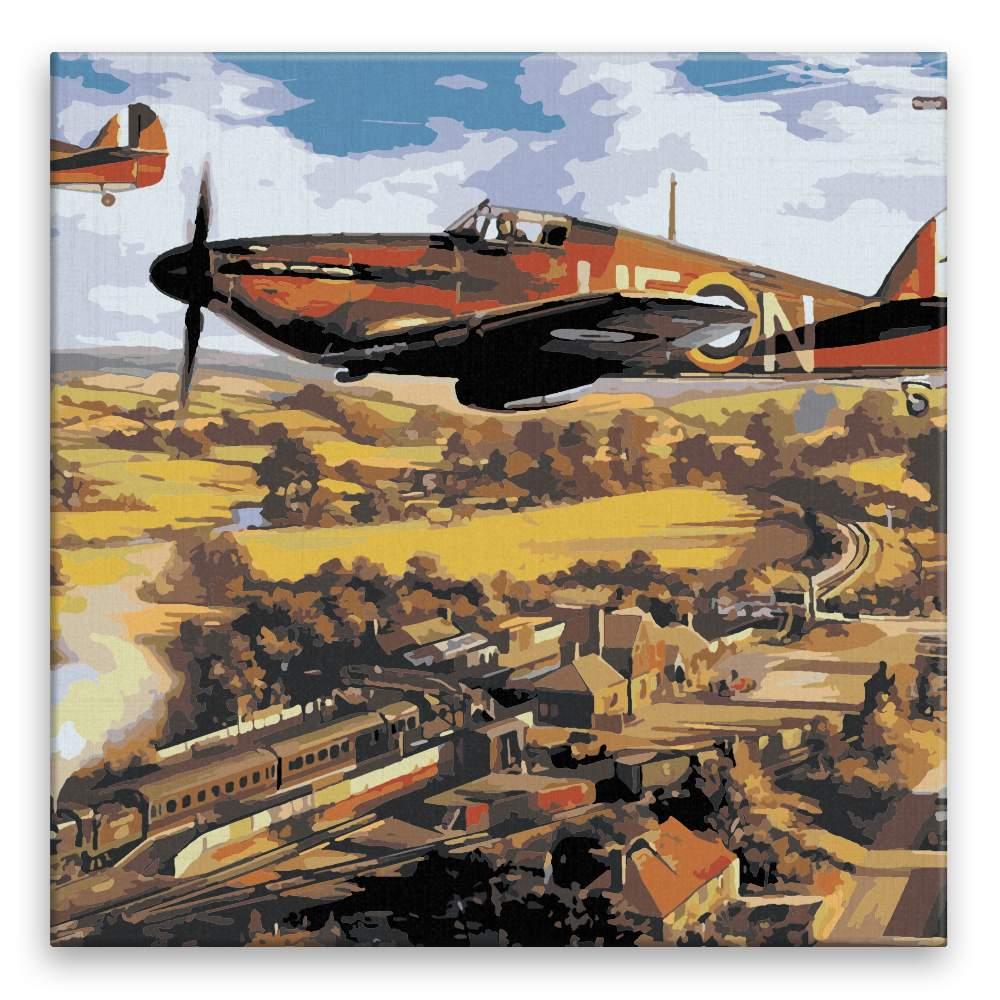 Malování podle čísel Válečné letadlo