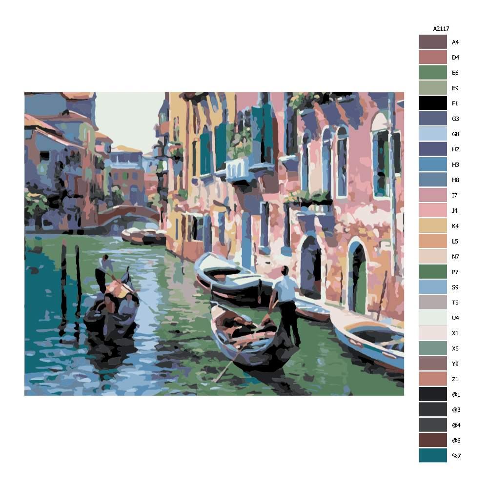 Návod pro malování podle čísel Benátky