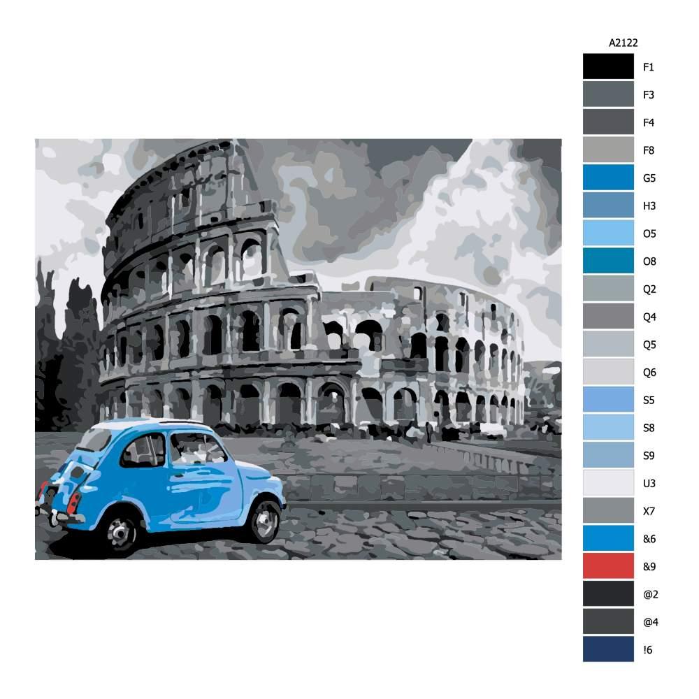 Návod pro malování podle čísel Před Colosseem