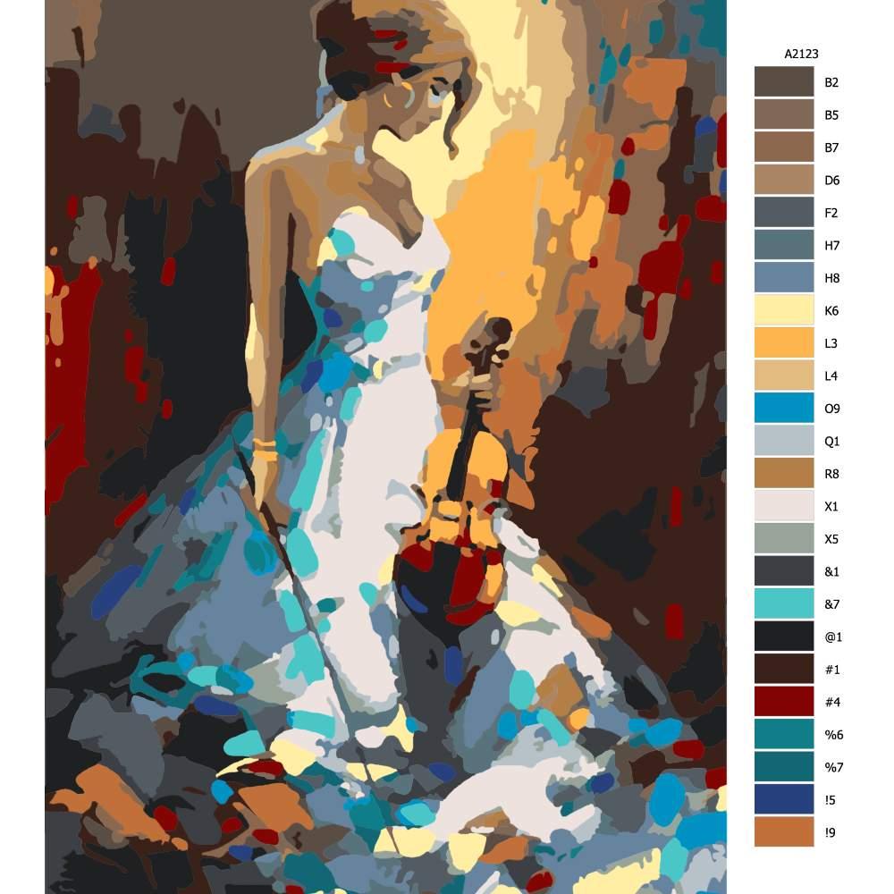 Návod pro malování podle čísel Hudební krása