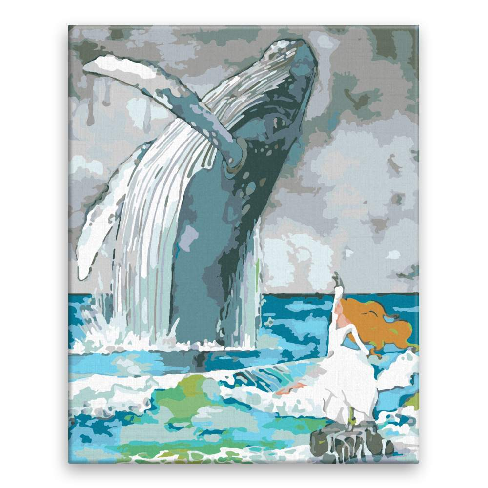 Malování podle čísel Taneční kreace s velrybou
