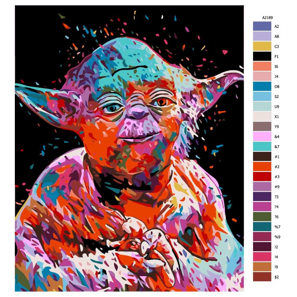 Malování podle čísel Yoda Star Wars