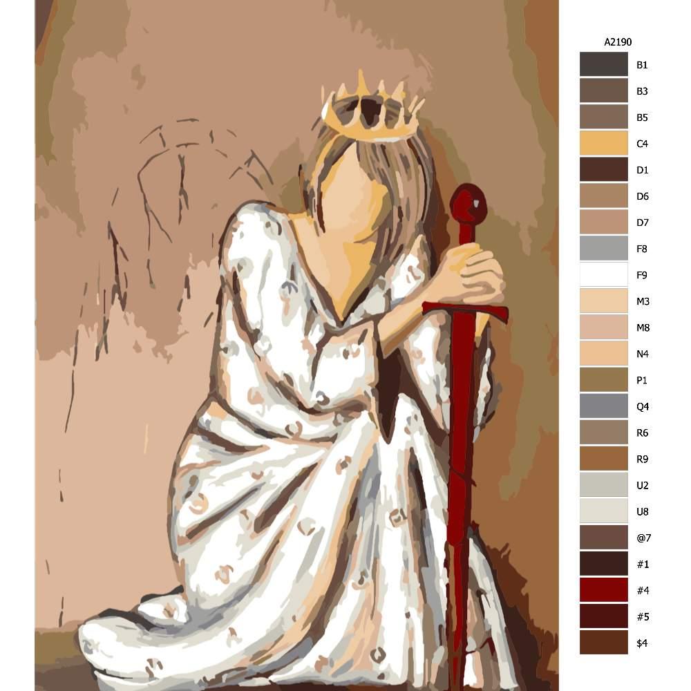 Malování podle čísel Královnka v pokleku