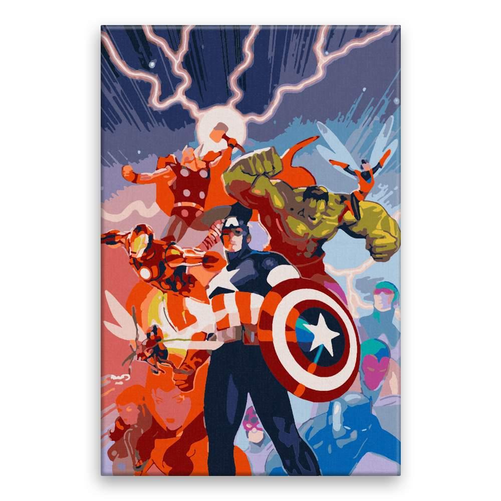 Malování podle čísel Avangers comics