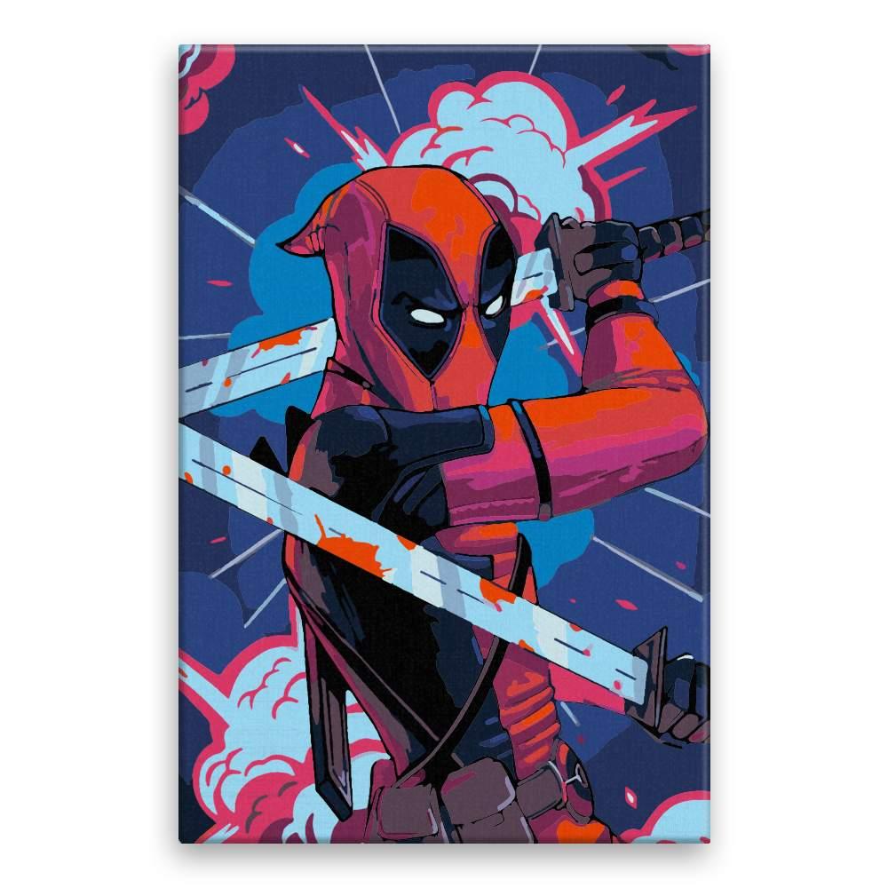 Malování podle čísel Deadpool 03