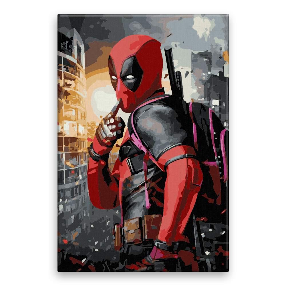 Malování podle čísel Deadpool 04